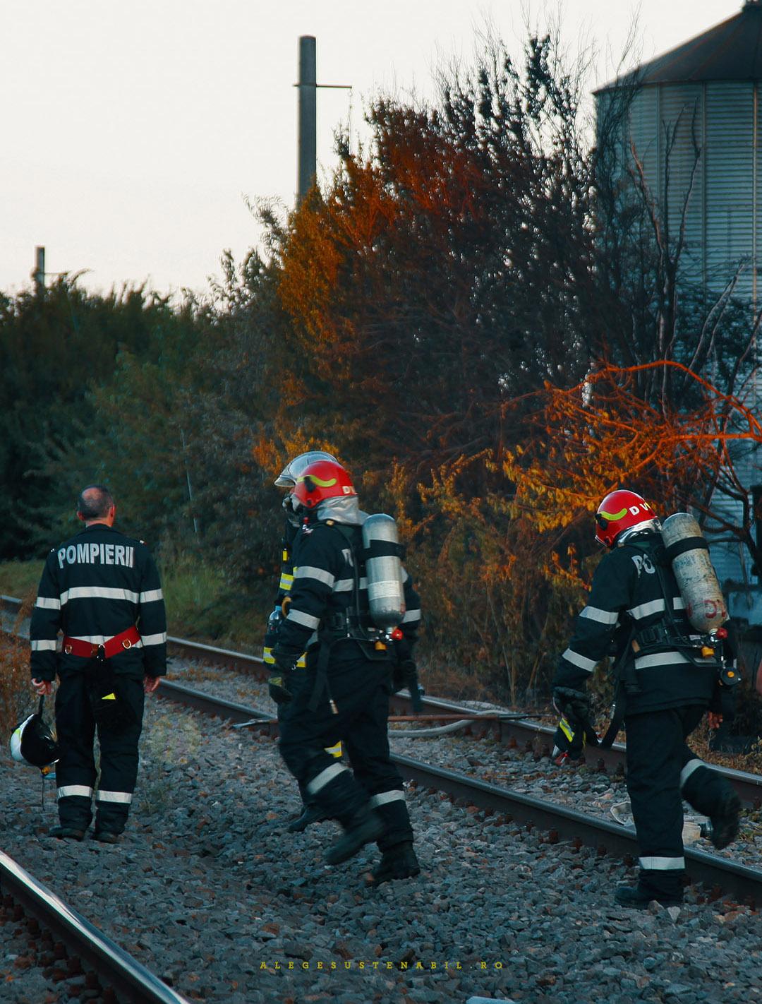Pompierii au stins la Incendiul Bragadiru 30 Iulie 2020
