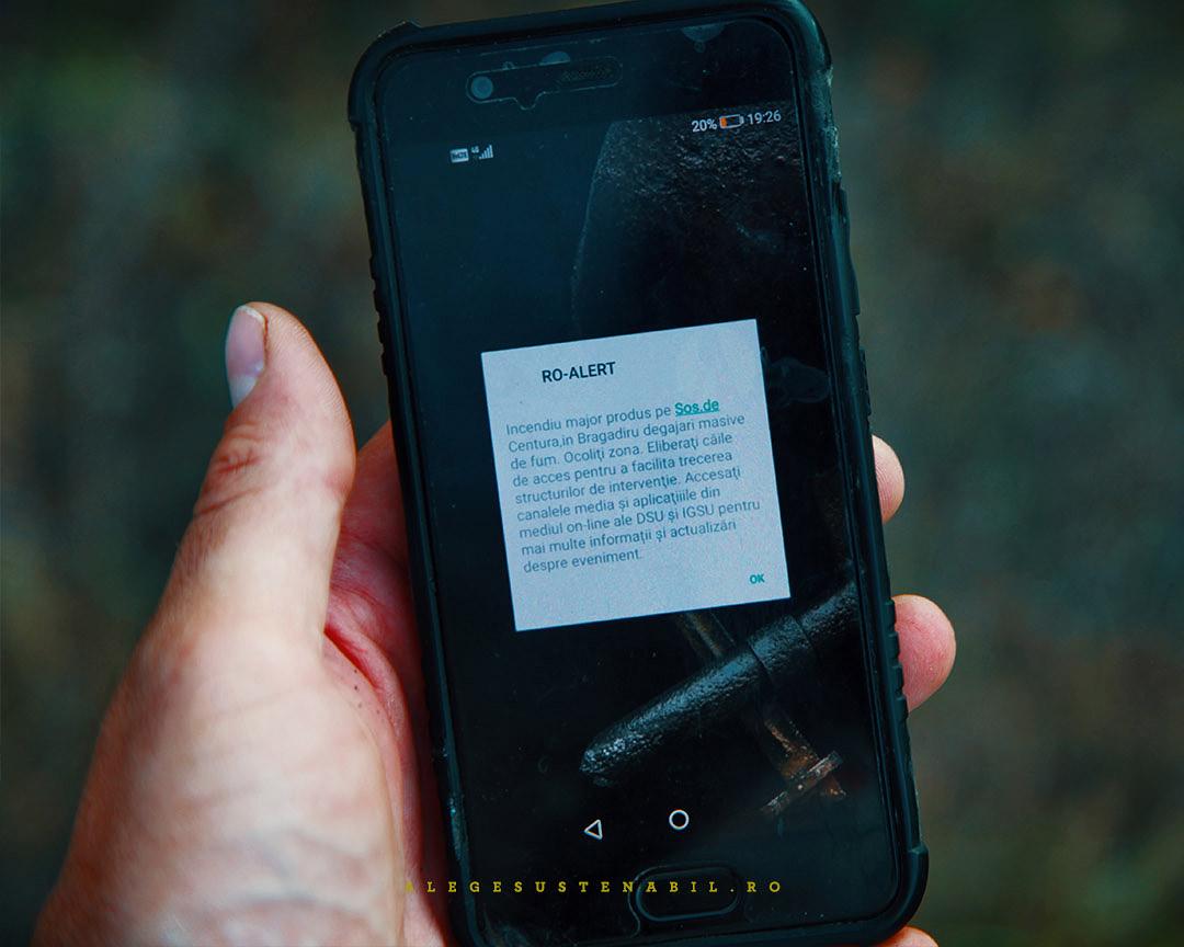 Atentionare sistemul RO ALERT pe smartphone in caz de urgenta